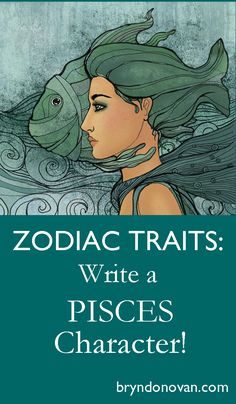 Zodiac Traits -- Write a Pisces Character! Use the personality type from astrology for character development in your writing. Fiction Writing, Writing Advice, Writing Resources, Writing Help, Writing Skills, Writing A Book, Writing Prompts, Writing Ideas, Zodiac Characters