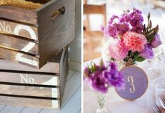 15 DIY Wedding Table Numbers | SouthBound Bride | http://www.southboundbride.com/15-diy-table-number-ideas | Credits: Lolly Jane // Joanna Wickham via Oh Lovely Day