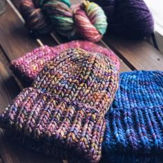 Hats / Beanies by @schoolknitting | malabrigo Rasta in Piedras and others