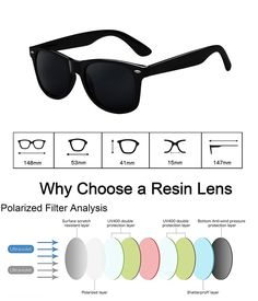 0585ae07b00 wearPro Wayfarer Sunglasses for Men Women Vintage Polarized Sun Glasses  WP1001(bright black)   Want