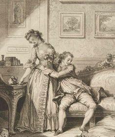 Femme avare galant Escroc (stingy girl, generous thief) Jean-Honoré Fragonard  (French, Grasse 1732–1806 Paris): Etching,  by Jacques Aliamet (French, Abbeville 1726–1788 Paris) Date: 1795: