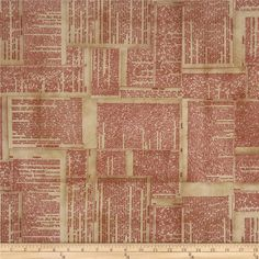 Tim Holtz Eclectic Elements Dictionary Red from @fabricdotcom  Designed by Tim Holtz, this cotton print fabric is perfect for quilting, apparel, crafts, and home decor items. Colors include red and cream on beige.