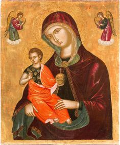 Gold Line, Tempera, Virgin Mary, Wood Paneling, Catholic, Arms, Faith, Paintings, Wooden Panelling