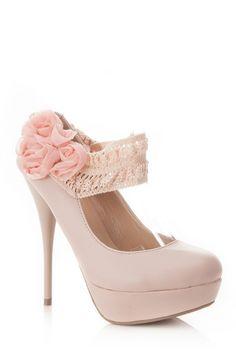 Crochet Ankle Strap Heel.