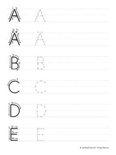 Print and Practice the German Alphabet - Großbuchstaben schreiben lernen Printable Preschool Worksheets, Alphabet Worksheets, Learning The Alphabet, Kids Learning, Writing Activities, Preschool Activities, Maths Puzzles, Online Lessons, Writing Practice