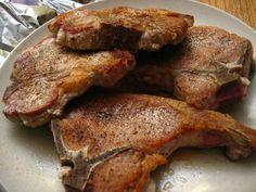 Air fried pork chops