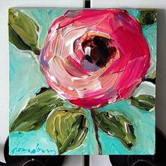Daily 6 – attempting to do a painting a day for the month of December. Day 1 complete - All About Arte Floral, Abstract Flowers, Love Art, Painting Inspiration, Diy Art, Art Lessons, Art Drawings, Art Projects, Canvas Art