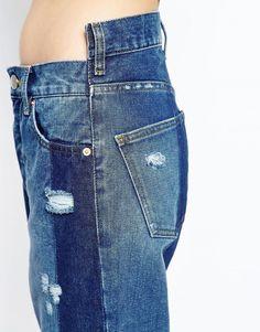 Image 3 ofASOS Denim Deconstructed Straight Leg Jeans