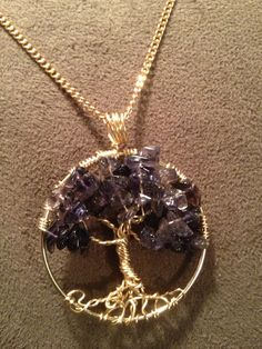 Purple Howlite Tree of Life -- Handmade Jewelry Pendant Locket Celtic Goth Spirit Gemstones Wire Wrapped Trees Custom by on Wanelo Wire Jewelry, Pendant Jewelry, Beaded Jewelry, Jewlery, Tree Of Life Jewelry, Tree Of Life Pendant, Custom Jewelry, Handmade Jewelry, Wire Wrapping Crystals