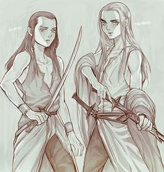 Little Elrond and Thranduil
