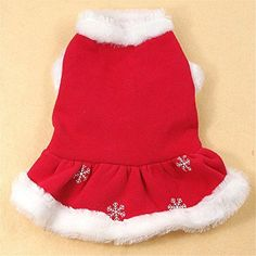 Chiqpets Dog Clothes Red Christams Clothes Dress Dog Dress Pet Clothing for Small Medium Dogs Cats (S)