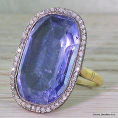 Georgian 25.30 Carat Natural Ceylon Sapphire & door GatsbyJewels