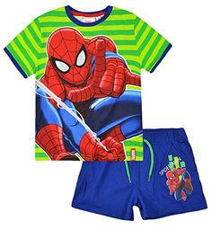 Boys Spiderman T Shirt and Shorts Set Kids Summer Outfit New @ niftywarehouse.com