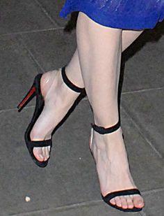 Daisy Lowe in Christian Louboutin x Jonathan Saunders sandals