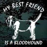 blood hound  tattoos | bloodhound 01 best friend bloodhound best friend dog decals stickers ...