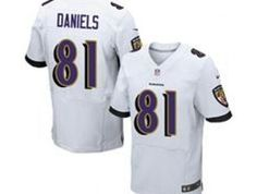 7d1bded31 $22 for Wholesale cheap 2014 NFL Draft Nike Baltimore Ravens #81 Owen  Daniels White New