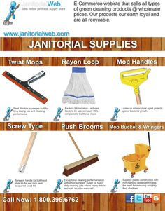 The Janitorial can be performed with different equipment or supplies to keep our home very clean.