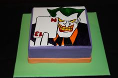 The Joker Cake for my step brothers 13th birthday.