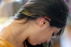 star tattoo behind the ear
