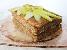 Raw Spiced Pear Caramel Cake