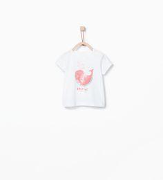 ZARA - MINI - Shirt met watermeloen en walvis
