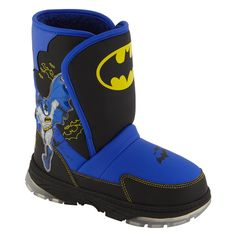 Character- -Boy's Batman Winter Boot - Multi-Shoes-Toddler Boys Shoes-Toddler Boys Boots