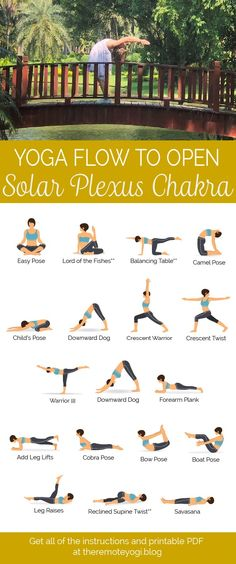 Yoga for Solar Plexus Chakra – Printable PDF – the remote yogi Looking to increase your confidence and feel good about who you are? This yoga sequence will light up your solar plexus chakra and give you a boost! Chakra Meditation, Chakra Yoga, Chakra Heilung, Yin Yoga, Yoga Inspiration, Solar Plexus Chakra Healing, Chakra Du Plexus Solaire, Citations Yoga, Les Chakras