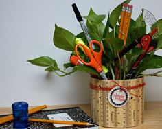 Measure Up with a School Supply Bouquet / Teacher Gifts | Fiskars