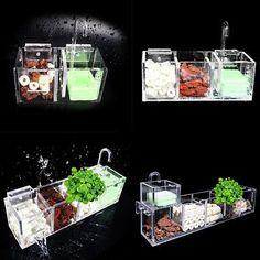Aquarium External Filter Box Fish Tank Filter Box without Water Pump Water ~ #AquariumFilterIdeas