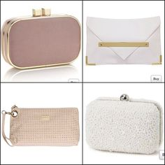 Wedding appropriate clutch bags