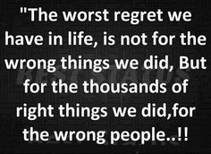 The right things...how true!