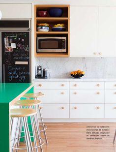 Cozinha verde. Veja…