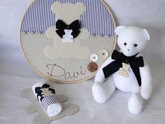 Quadro Maternidade Bastidor Urso