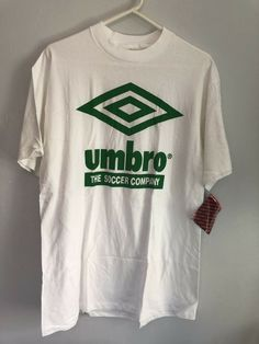 9074fb8b5a6 Vintage UMBRO The Soccer Company Green Print on White Tee Shirt Large NWT  MLS  fashion  clothing  shoes  accessories  vintage  mensvintageclothing  (ebay ...
