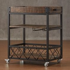 TRIBECCA HOME Myra Rustic Mobile Kitchen Bar Serving Wine Cart Bistre Brown *** More info could be found at the image url. (This is an affiliate link) Decor, Wine Cart, Bars For Home, Bar Furniture, Bar, Bar Cart Decor, Wooden Bar Stools, Kitchen Bar, Wooden Shelves