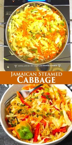 Tasty Vegetarian Recipes, Healthy Crockpot Recipes, Healthy Breakfast Recipes, Lunch Recipes, Cooking Recipes, Sandwich Recipes, Jamaican Dishes, Jamaican Recipes, Steamed Cabbage