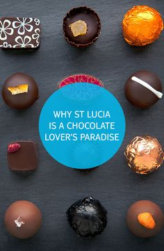 Looking for a chocoholic's paradise? As well as its sugar sand beaches, St Lucia's lush, volcanic landscape is perfect for growing the UK's number one confectionary – chocolate. Chocolate Day, Chocolate Treats, Chocolate Lovers, Chocolate Heaven, Caribbean Recipes, Caribbean Food, Allergy Free Recipes, Party Treats, Simple Weddings