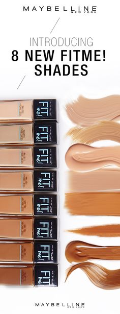 Girls, we know you don't mess around when it comes to foundation, so we've got some big news. Maybelline FitMe! has 8 new shades, making your foundation fit even more perfectly to your skin tone. From dark and warm to light and cool, we've got them all and we've got them now. Go get yours.