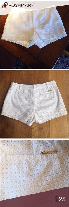 Michael Kors Shorts White eyelet, 4 pocket cotton shorts. Never worn. Michael Kors Shorts