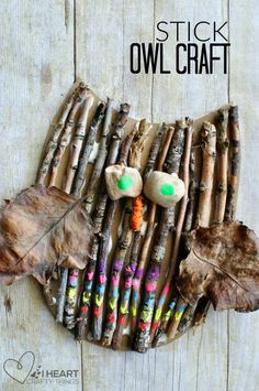 This stick owl craft for kids is so fun since it is made almost entirely of nature elements. You can create an entire afternoon of fun by going on a nature walk to collect all of your materials and then come home to make this adorable owl craft.