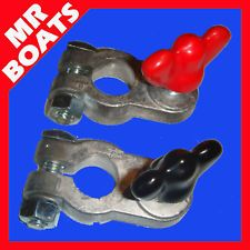 MARINE Boat BATTERY TERMINALS Lead, Vinyl Coated Clamps