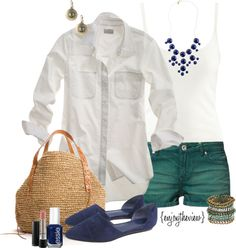 """""""teal & cobalt"""" by enjoytheview on Polyvore"""