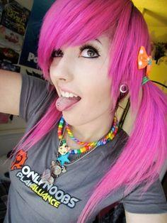 Pink hair. Cute