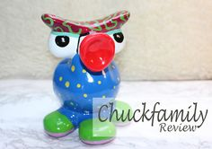 Interior and lifestyle blogger Janet really liked her #CHUCKFAMILY #moneybox #Numnum! Read all about it on her blog J'Life! http://jlife.nl/review-chuckfamily/
