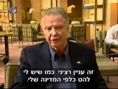 Jon Voight on Israel,THIS IS A VIDEO OF A HOLLYWOOD STAR WHO TELLS IT EXACTLY LIKE IT IS AND I ENCOURAGE EVERYONE TO WATCH AND THEN PASS IT ON