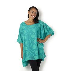 155991_ed.102 (450×450) Join clothes devore top with Jersey lining Emerald