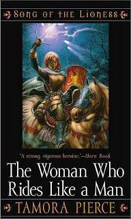 "Genre: Young AdultSub Genre: Fantasy; Magic, Tortall, Song of the LionessRating: 5 out of 5 StarsBack Cover: ""Let her prove herself worthy as a man."" Newly knighted, Alanna of Trebond seeks adventure in the vast desert of Tortall. Captured by fierce desert dwellers, she is forced to prove herself in"