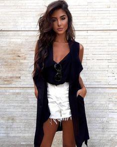 Street style shorts black