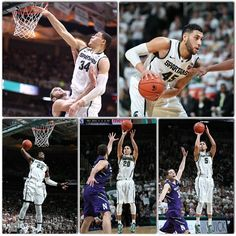 @statebasketball The entire Spartans starting five finished in double figures, led by @tricetra who had 18 points. @denzelval45 scored 17, @gschills34 and @bj_dawson_22 had 13 each and @brynforbes recorded 11. #statebasketball #spartans #msu