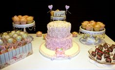 Shabby/Chic Baby Shower--Cakepops, Vintage Cupcakes, 2 Tier Cake, and Chocolate Strawberries---November 2014